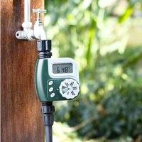منفذ واحد خرطوم صنبور الموقت في الهواء الطلق مقاوم للماء الرقمية للبرمجة حديقة الري الري التلقائي الموقت