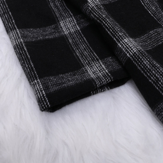 Polyester Full Top Fashion Long Winter Coat Sobretudo Abrigo Mujer Cloth Dress Plaid Factory Wholesale Supply Of Goods