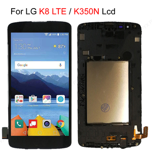 Image 1 - Fast Ship Stock LCD For LG K8 LTE K350 K350N K350E K350DS 2016 LCD Display + Touch Screen Digitizer sensor glass frame Assembly