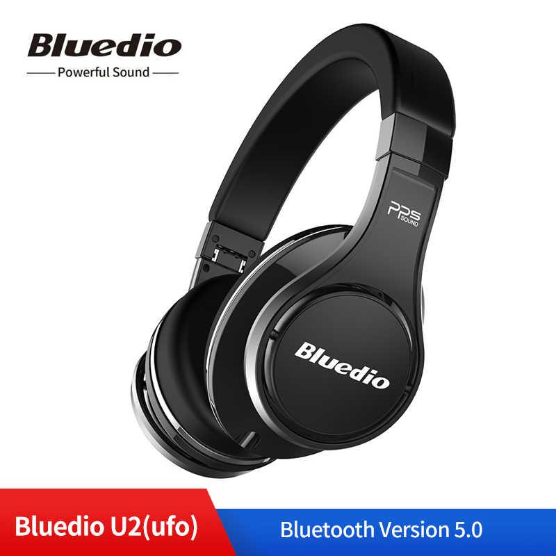 Bluedio U2 UFO 2 bezprzewodowe słuchawki Bluetooth 3D Surround wysokiej klasy oryginalne opatentowane 8 sterowników HiFi sportowe zestaw słuchawkowy z mikrofonem
