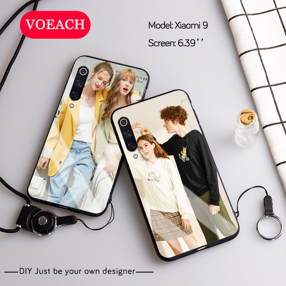 Custom Personalized Phone Case Tempered Glass For Xiaomi Mi 9 SE 8 A3 Lite 5X 6X F1 Redmi Note 8 7 6 5 Pro Mix 2s 3 Cover Design(China)