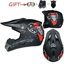 Top ABS Motorcycle Motobiker Helmet DH Motorcycle Racing Helmet Off Road Downhill Mountain Helmet with Goggles