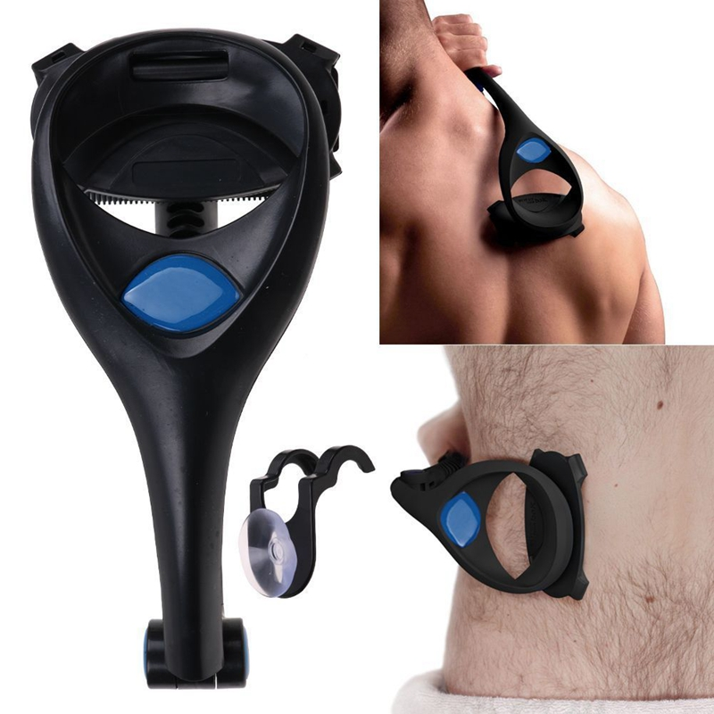 Men Back Hair Shaver Trimmer Long Handle Adjustable Stretchable Body Shaver Razor Back Hair Remover Leg Hair Razors Two Blades
