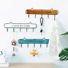 Soporte de almacenamiento de llaves Vintage, percha para colgar en la pared, gancho para colgar en el hogar, accesorios para muebles, ganchos para ropa 4/5/6 ganchos