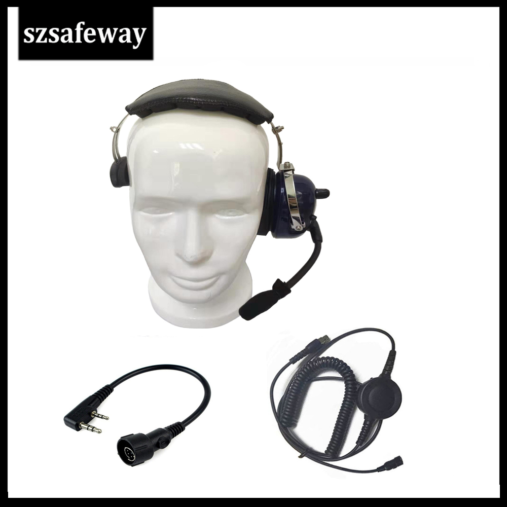Walkie Talkie Headphone Headset For KENWOOD BAOFENG UV-5R BF-888s Retevis H777
