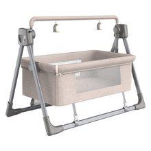 Berceau électrique multifonction Intelligent pour bébé, chaise à bascule pour nouveau-né, sac de rangement et moustiquaire, 2021