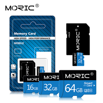 Class 10 Newest Moric Micro SD Card Memory Card mini TF card 256GB 128GB 64GB 32GB 16GB 8GB with Free adapter for Smartphone image