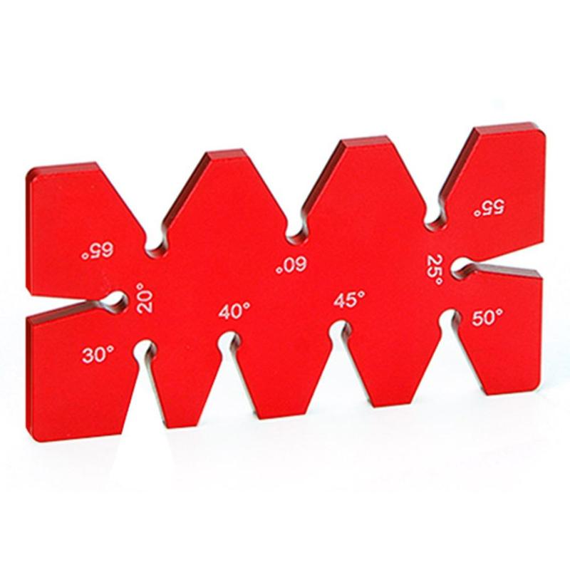 Aluminum Woodworking Tool Angle Gauge Multi Angle Ruler Template Protractor