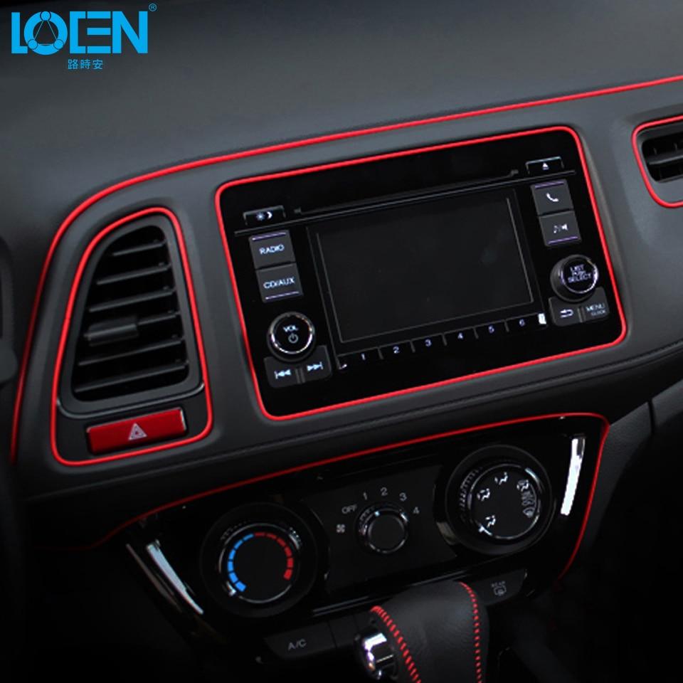 Car Styling 5M/pcs Universal Flexible Car Interior Decoration Moulding Trim Strips Car Central Control And Door Decoration Strip