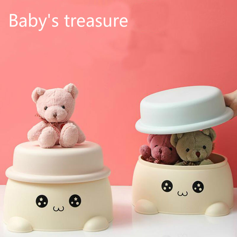Children's Stools Cartoon Storage Stool Multifunctional Shoe Changing Stool Non-slip Step Stool Household Plastic Storage Stool