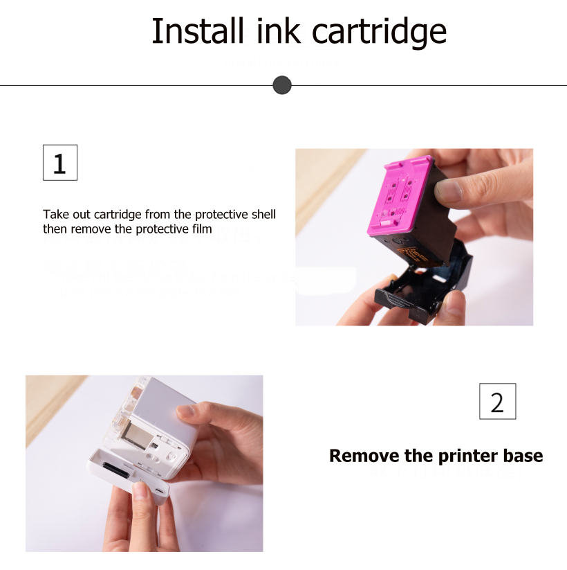 Color portable Inkjet Printer Works On Any Material With Tri-color ink cartridge