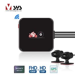 Image 1 - SYS VSYS M6L P6L WiFi אופנוע DVR מצלמת דאש Full HD 1080P + 720P קדמי אחורית עמיד למים אופנוע מצלמה שחור מקליט תיבה