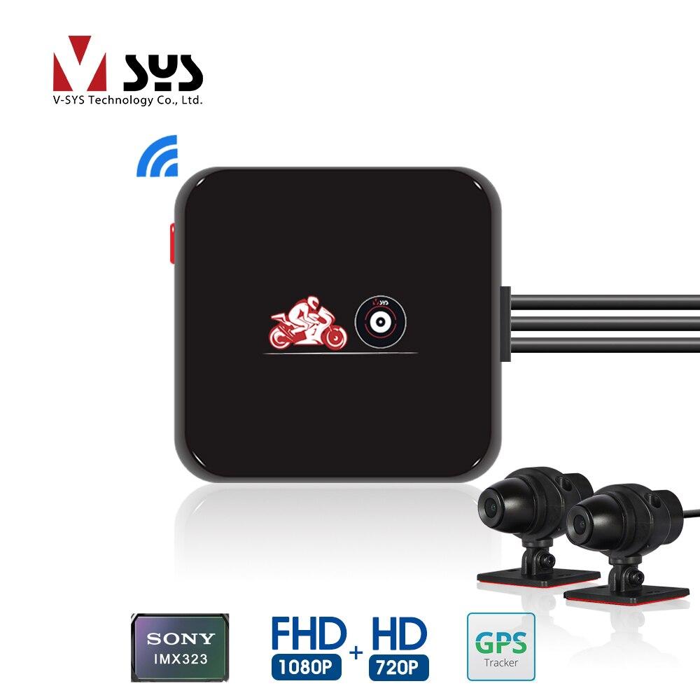 VSYS M6L P6L WiFi моторегистратор видеорегистратор для мотоцикла регистратора мото Камера на шлем  Водонепроницаемый Full HD с двумя 1080P+720P