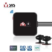 SYS VSYS M6L P6L WiFi motocykl DVR kamera na deskę rozdzielczą Full HD 1080P + 720P widok z przodu z tyłu wodoodporna kamera motocyklowa czarna nagrywarka