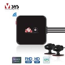 SYS VSYS caméra DVR pour moto, M6L, P6L, caméra de tableau de bord, étanche, Full HD, 1080P + 720P, caméra avant et arrière, noire, boîte denregistrement