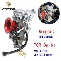 ZSDTRP Original 28 33 35 37 39 40 41mm Flatslide Carburetor FCR39 for KTM XR DR400 CRF450/650 KLX400/450 YZ450F Add Power 30%