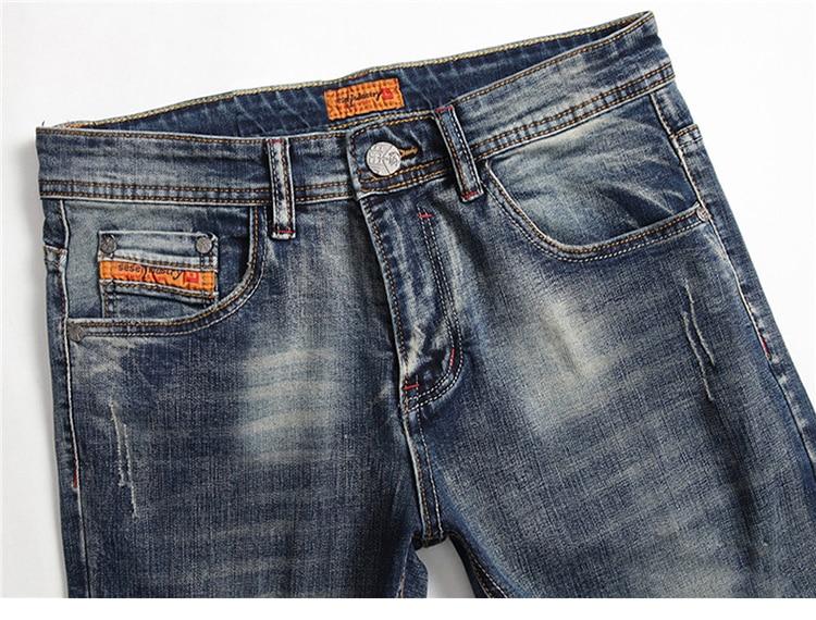 Moto & Biker Jeans Men Slim Fit Stretch Fashion Trend European and American Style Men's Jeans Pants
