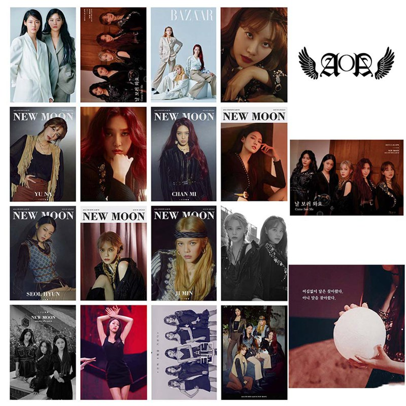 16pcs/set Kpop AOA New Album Mini 6th Album Lomo Card New Arrivals Good Quality Album Poster Photocard
