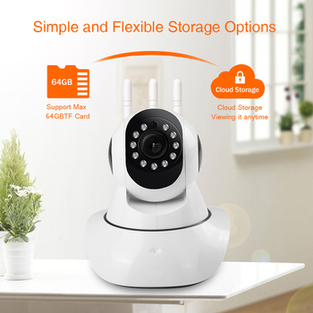 1080P Cloud WIFI IP Camera 360 PTZ IR Night Vision Wireless Two Way Audio Video Baby Monitor Home Security Surveillance System 1080p 360 degree fisheye security ip camera wireless panoramic ptz ir cut night vision two way audio cctv cameras