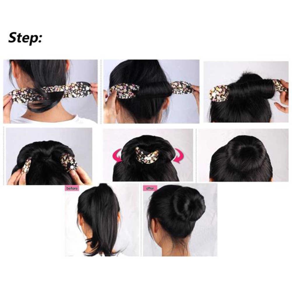 Gran oferta de pinza para cabello de estilo serpenteado de esponja para mujer, moño, accesorios herramientas para el pelo de lunares y flores