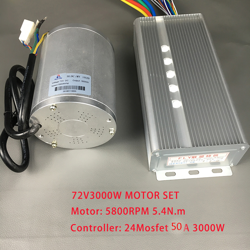 DC <font><b>Motor</b></font> High Speed 72V <font><b>3000W</b></font> Electric <font><b>Bike</b></font> Brushless <font><b>Motor</b></font> kiti With BLDC Brushless Controller For Electric Scooter Accessories image