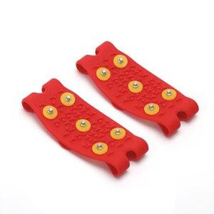 Image 2 - 1 para 5 Stud Snow Ice claw wspinaczka antypoślizgowe kolce uchwyty Crampon buty korki pokrywa dla kobiet mężczyzn pokrowiec na buty rozmiar 35 43