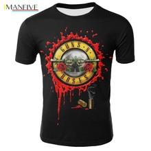 2019 Novelty 3D T Shirt Men Roses And Guns Short Sleeve Men/Women N Clothing Tshirt Tee Tops Wholesale