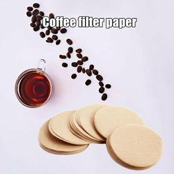 100pcs Coffee Filter Paper Round For Espresso Coffee Maker V60 Dripper Coffee Filters Tools Moka Pot Paper Filter