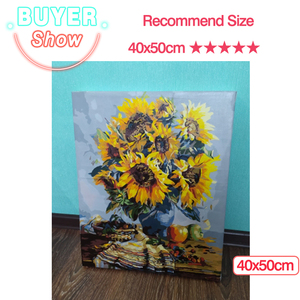 Image 3 - AZQSD Oil Painting Flower In Vase Painting By Numbers Paint Flower DIY Canvas Picture Hand Painted Home Decoration SZYH6310