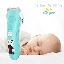 Electric Baby Hair trimmer Cartoon hair clipper Ceramic Safe Waterproof Rechargeable Professional Kids split ender hair trimmer
