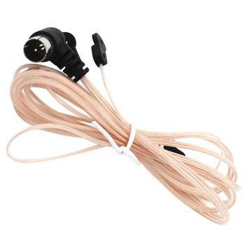 75 Ohm złącze dźwięku radia domowego antena dla odbiornika do użytku w pomieszczeniach HD dipol FM mężczyzna T kształt przezroczysty Stereo akcesoria