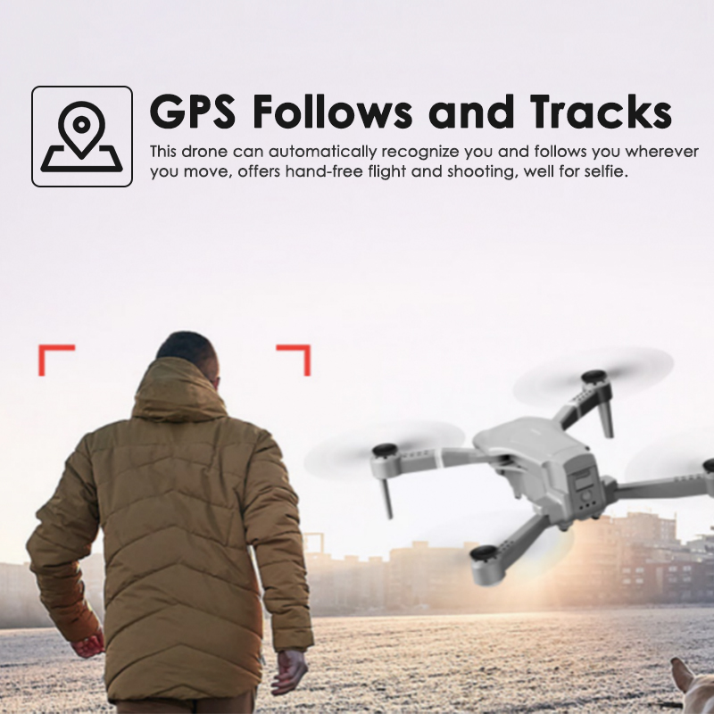 cheapest LF606 Wifi FPV Foldable RC Drone with 4K HD Camera Follow Altitude Hold 3D Flips Headless RC Helicopter Mini Aircraft Kid s Toys