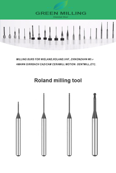Roland milling burs 0.6mm/1.0mm/2.5mm for Roland D51 D52 CAD CAM milling machine cad for interiors