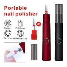 Mini Electric Nail Drill Pen USB Charging Nail Polishing Machine Light Weight Rechargeable Grinding Machine with LED Lighting