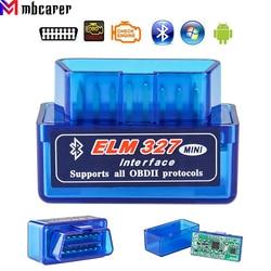 Bluetooth V1.5/V2.1 Mini Elm327 Obd2 Scanner OBD Car Diagnostic Tool Code Reader For Android Windows Symbian English