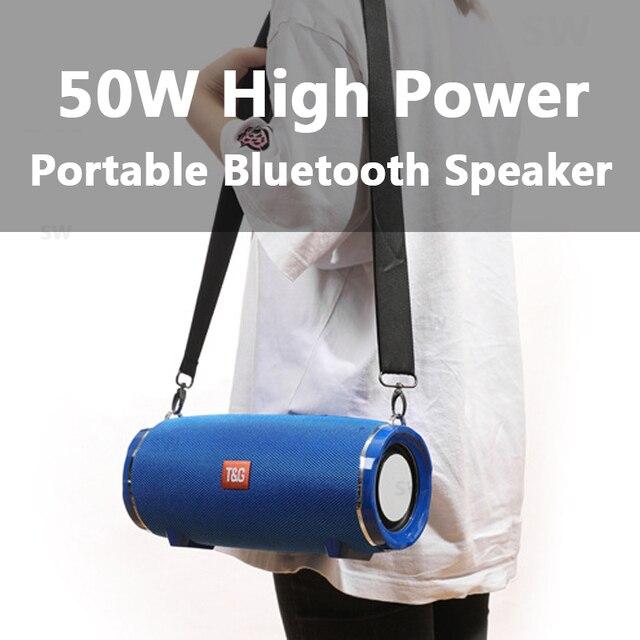Bluetooth Speaker TG187 High Power 50W  Speakers Subwoofer Boom Box 2