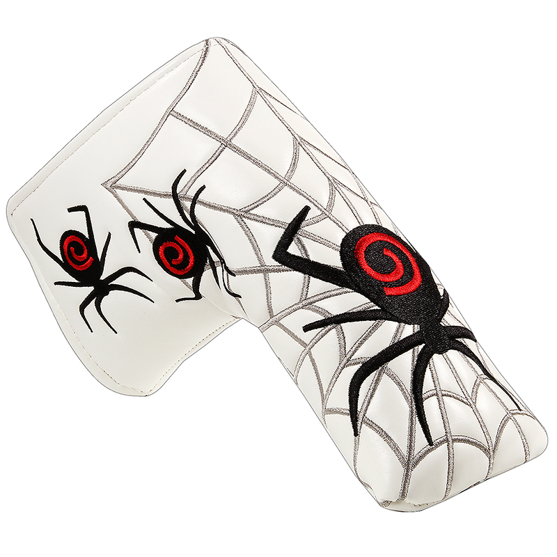 Free Shipping White Black Red Spider Golf Blade Putter Cover HeadCover PU Synthetic Leather Headcovers