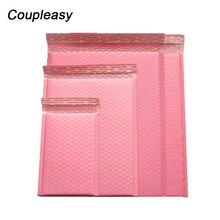 50 pièces/lot Poly bulle enveloppe rose courrier emballage sacs auto joint rembourré sacs de courrier étanche sacs dexpédition