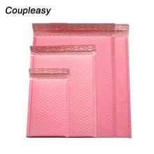 50 개/몫 폴 리 버블 봉투 핑크 메일 포장 가방 셀프 인감 패딩 택배 가방 방수 배송 가방 메일러