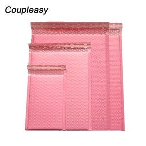Image 1 - 50 ピース/ロットポリバブル封筒ピンク便包装袋自己シールクーリエバッグ防水無料バッグメーラー