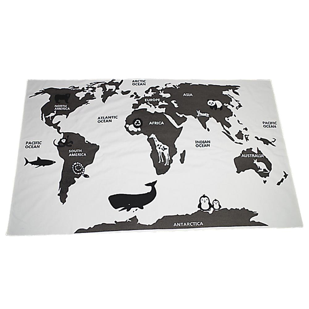 Kidlove Baby Adventure World Map Game Pad Crawling Mat Children's Room Decoration Pad