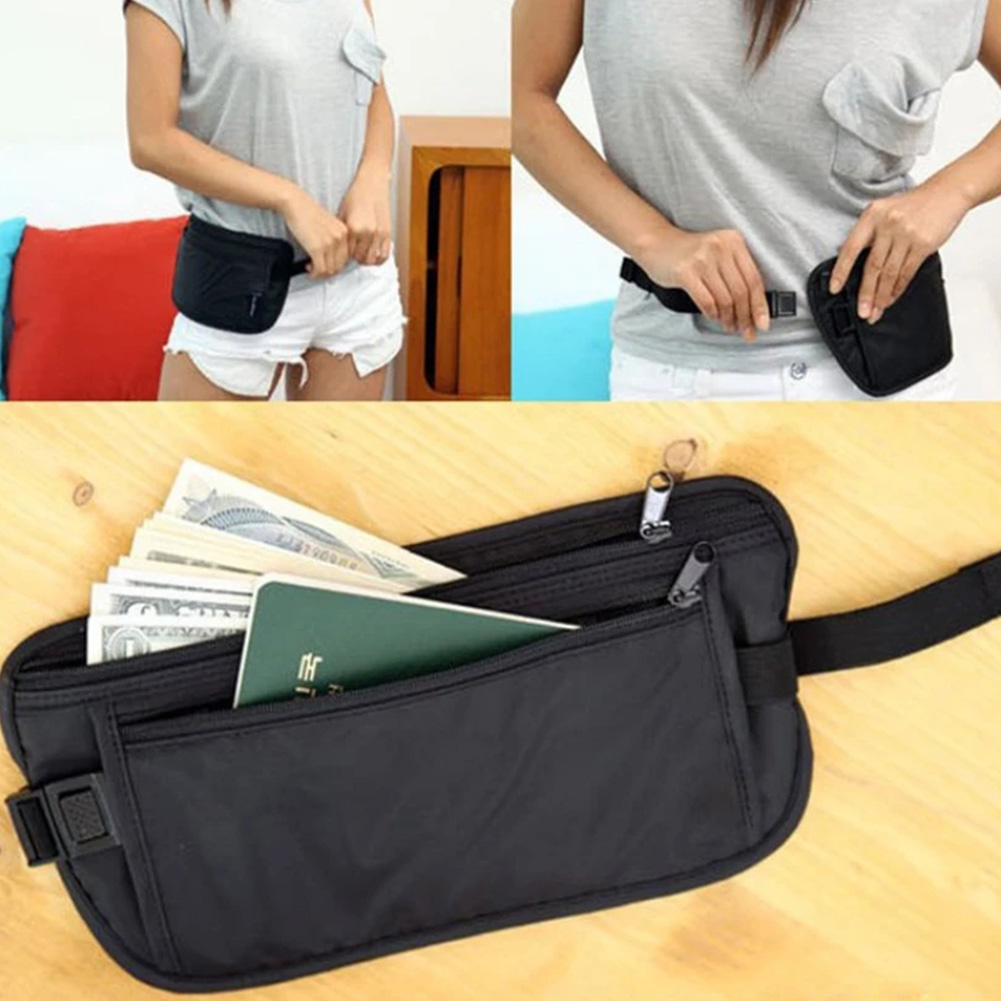 New Women Waist Pack Men's Bum Bag Nylon Fanny Pack Travel Money Belt Travelling Mobile Phone Bag Pouch Wallet