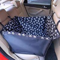 Portadores do animal de estimação à prova dwaterproof água cão capa de assento do carro esteiras rede almofada transporte para cães perro autostoel hond