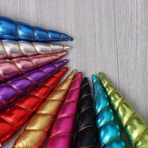 Image 5 - Nishine 30pcs/lot Unicorn Horn Flatback for Baby Girls Hair Bands Headwear Party Diy Headwear Hair Accessories Birthday Gifts