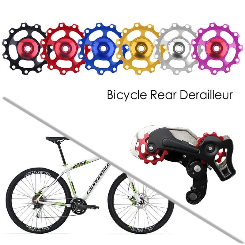 Pair of Aluminium 11T Bike Jockey Wheel Rear Derailleur Guide Pulley Bicycle Use