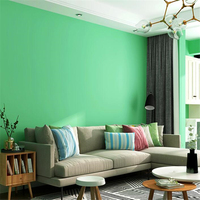 Beibehang Fruit green wallpaper green small fresh pure color modern minimalist bedroom living room TV background wall paper