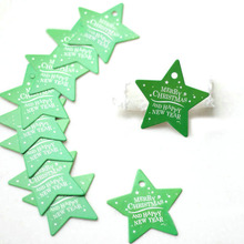 10pcs Christmas Series Tags Paper Gift Wedding Party Hang Price Label Tag Cards DIY Wrapping