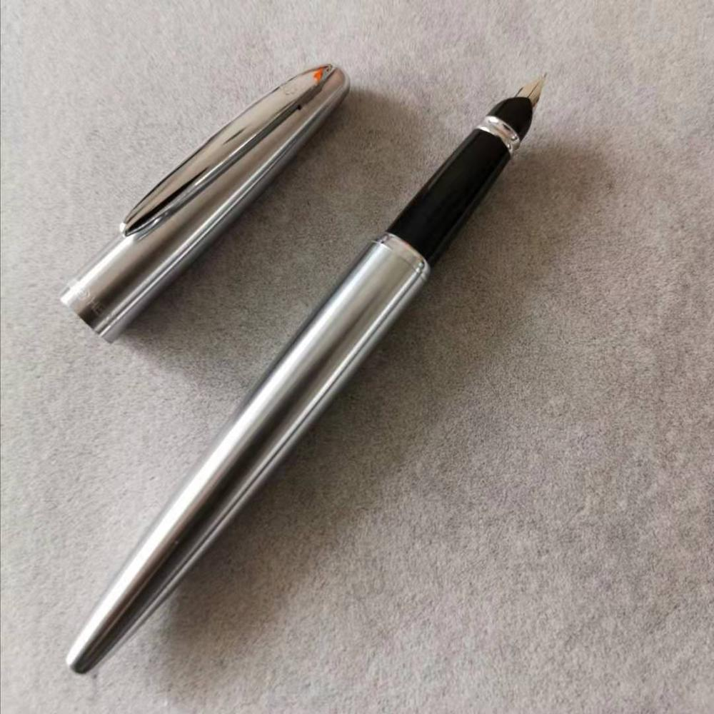 Old Stock Hero Steel Fountain Pen Ink Pen Aerometric Filler Fine Nib Business Stationery Office School Supplies Writing Gift