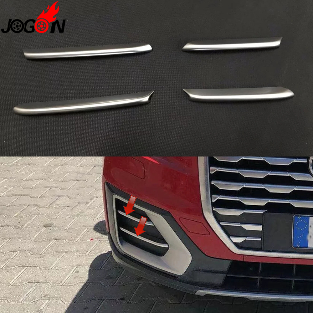 Chrome Fog Grille Strip Molding Trim For Audi Q3 2016 2017 2018 Exclude Sline