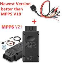 أحدث MPPS V21 الرئيسية + التريكو + متعددة التمهيد مع اندلاع تريكور كابل سيارة أداة أفضل من V18